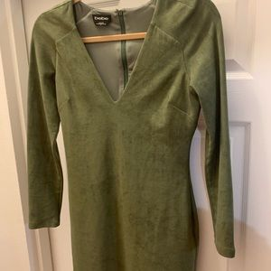 Bebe Green suede dress size s. Worn only once.